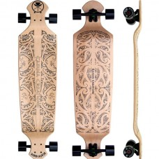 "Black Wave Drop Deck 43"" Longboard Complete - Natural"