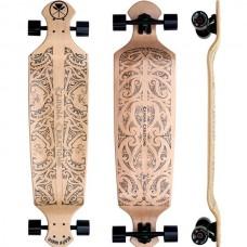 "Black Wave Drop Deck 43"" Longboard Complete - Natural"